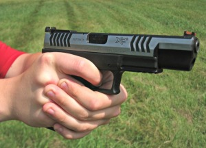 Grip and trigger: a beautiful pistol